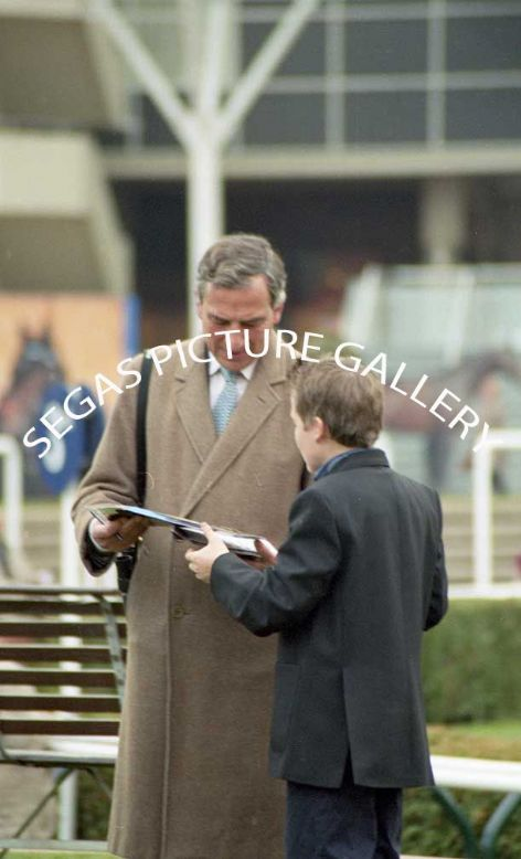 The Trainer Luca Cumani @ Newmarket on the 16th October 2004